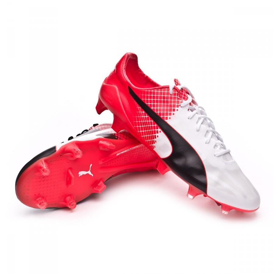 3780fc6b1b191 Bota de fútbol Puma EvoSpeed SL II FG Black-White-Red blast - Tienda de fútbol  Fútbol Emotion