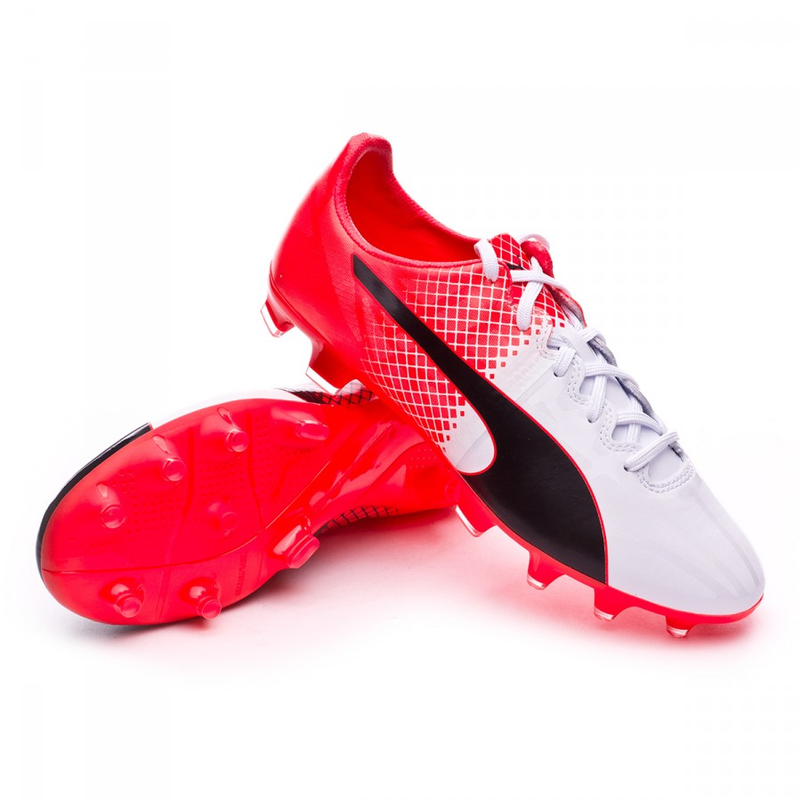 Boot Puma EvoSpeed 1.5 kids Black-White-Red blast - Football store ... 13fc9580269e