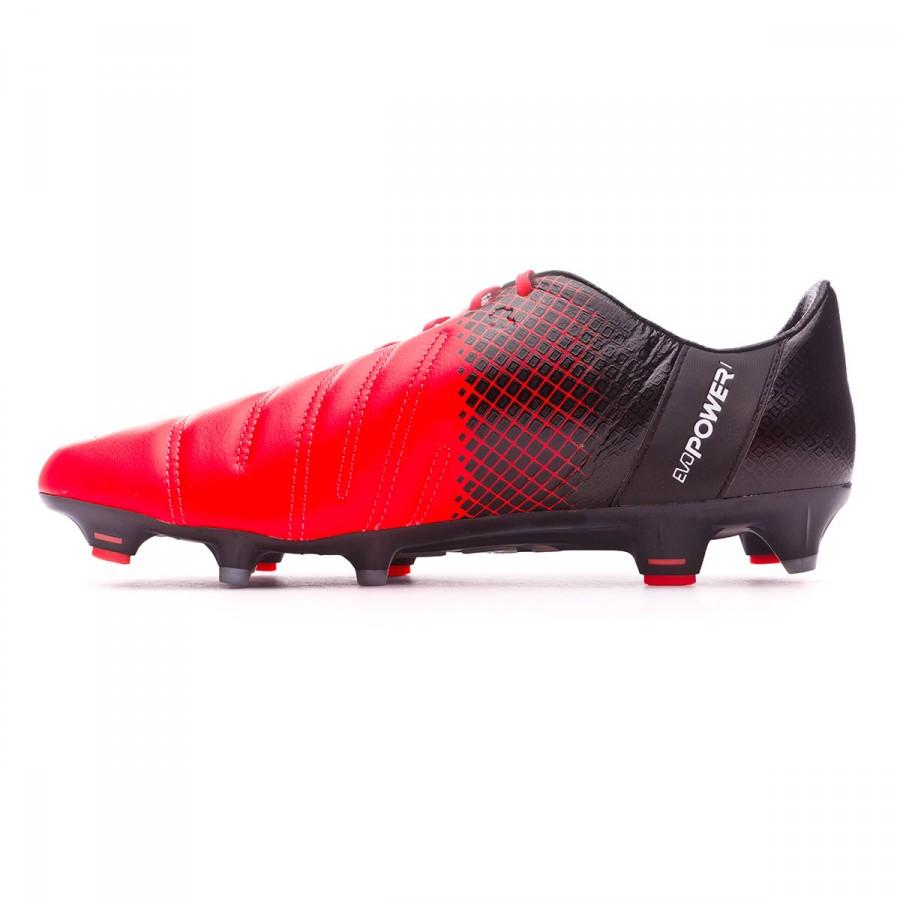 d27aeb1577c2 Boot Puma EvoPower 1.3 Leather FG Red blast-White-Black - Soloporteros es  ahora Fútbol Emotion