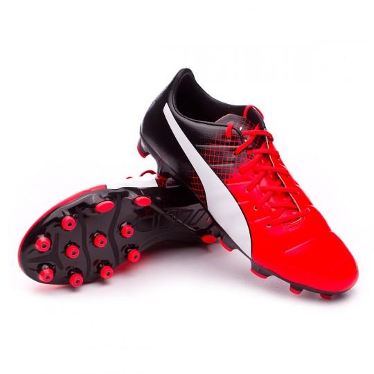 Chuteira  Puma EvoPower 1.3 AG Red blast-White-Black