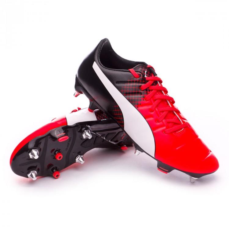 Boot Puma EvoPower 2.3 Mix SG Red blast-White-Black - Football store ... c7bf12ee141c