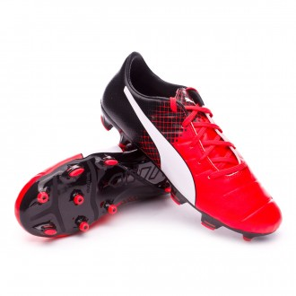 Bota  Puma jr EvoPower 1.3 FG Red blast-White-Black