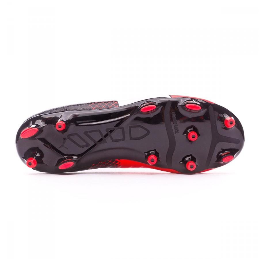 06b4b95319bf Football Boots Puma EvoPower 1.3 FG kids Red blast-White-Black - Football  store Fútbol Emotion