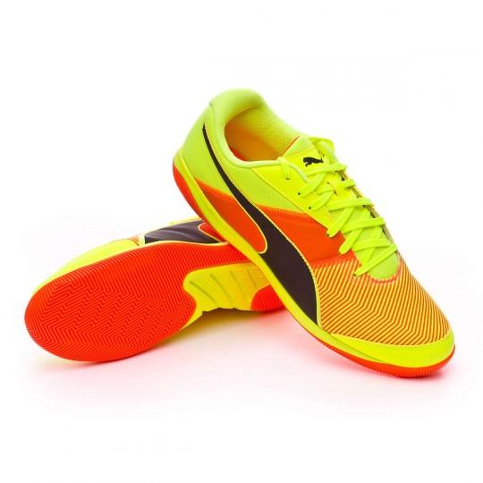 Chaussure de futsal  Puma Nevoa Lite v3 Safety Yellow-Black-Shocking