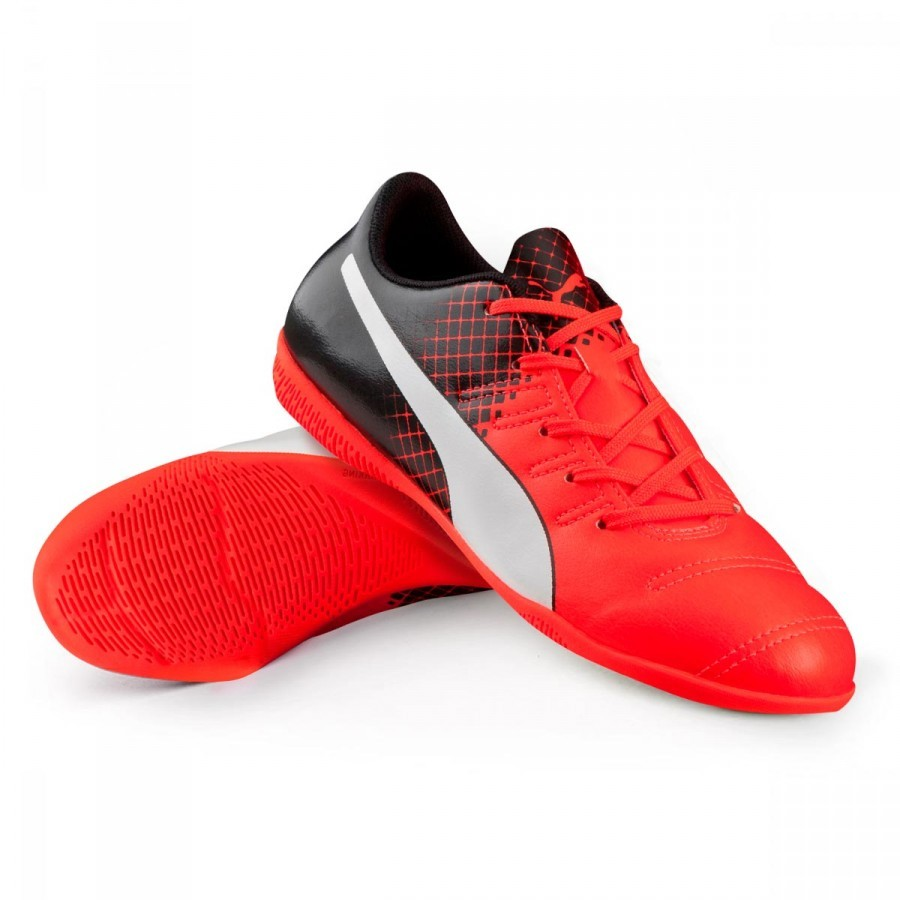 0f9169c28 Zapatilla Puma EvoPower 4.3 Tricks IT Niño Red blast-White-Black - Tienda  de fútbol Fútbol Emotion