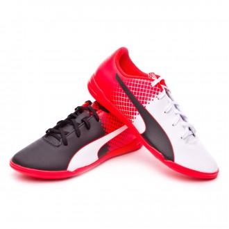 Zapatilla de fútbol sala  Puma jr EvoSpeed 5.5 Tricks IT Black-White-Red blast