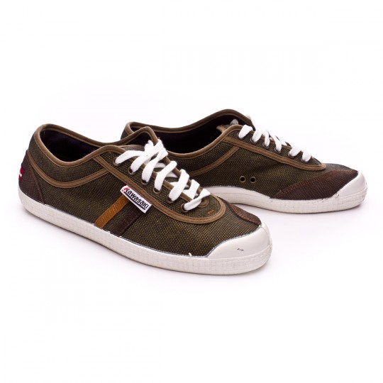 Zapatilla  Kawasaki Retro Stitch Flag Dark olive-Beige-Brown stripes