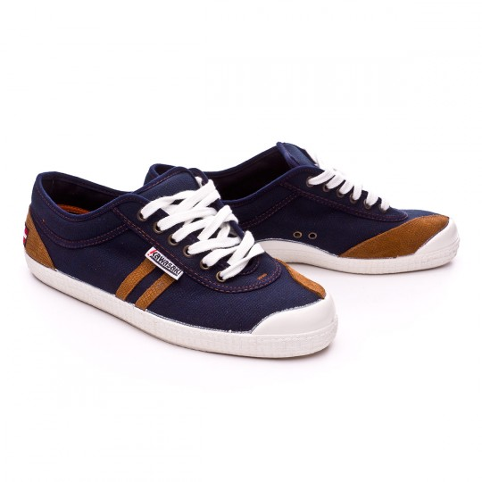 Zapatilla  Kawasaki Retro Stitch Flag Navy-Beige stripes