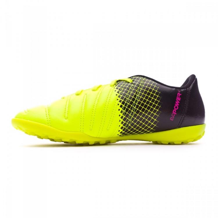c754264cbd8 Futsal Boot Puma Jr evoPower 4.3 TT Tricks Pink glo-Safety yellow ...