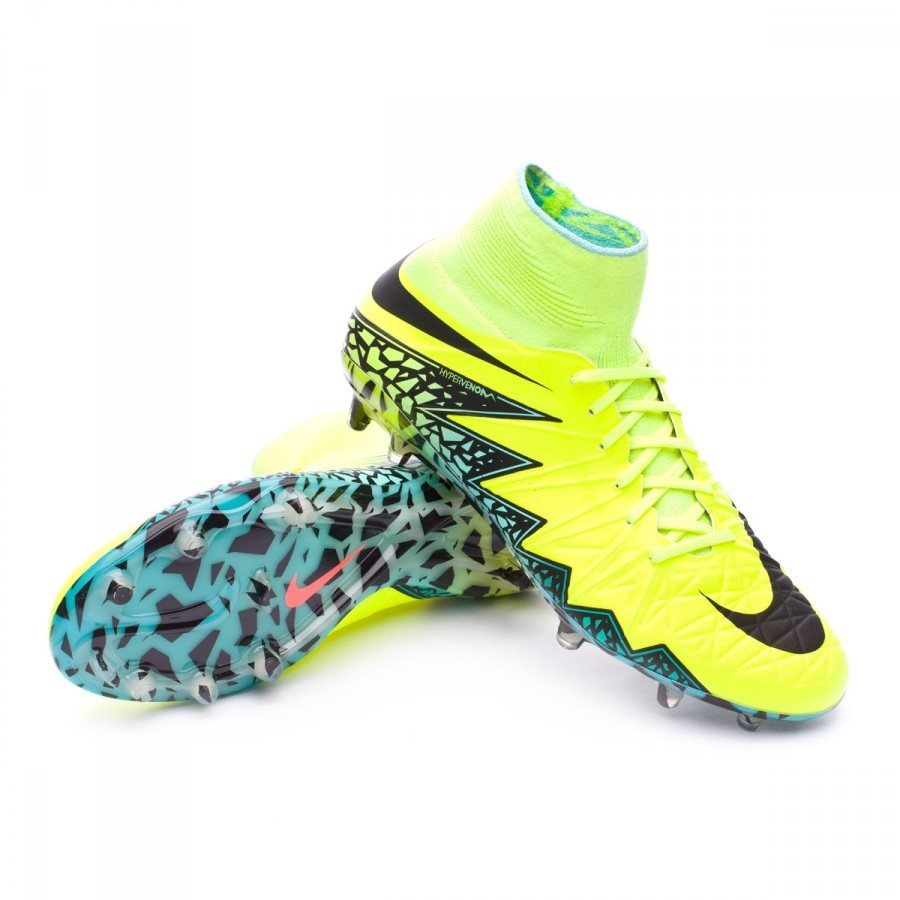 newest collection 09616 73f25 Chaussure de foot Nike HyperVenom Phantom II ACC FG Volt-Black-Hyper  turquoise-Clear jade - Boutique de football Fútbol Emotion