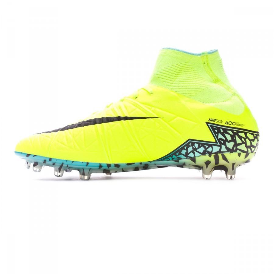 f02063ccedb2 Football Boots Nike HyperVenom Phantom II ACC FG Volt-Black-Hyper turquoise-Clear  jade - Football store Fútbol Emotion