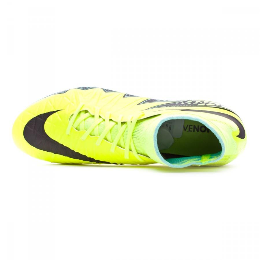 013aebc3ea Football Boots Nike HyperVenom Phantom II ACC FG Volt-Black-Hyper turquoise-Clear  jade - Football store Fútbol Emotion