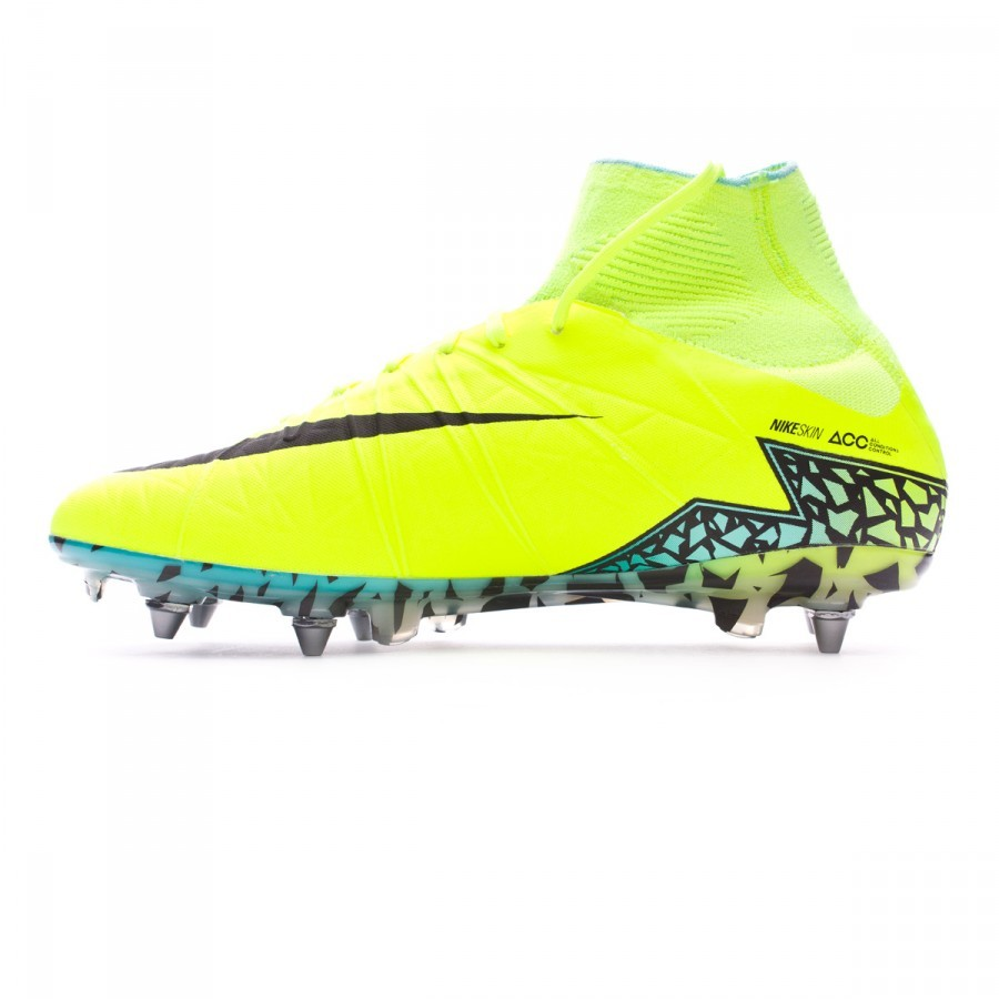 wholesale dealer 31889 5bcd7 Boot Nike HyperVenom Phantom II ACC SG-Pro Volt-Black-Hyper turquoise-Clear  jade - Football store Fútbol Emotion