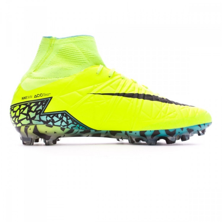 incredible prices best shoes low priced Bota HyperVenom Phantom II ACC AG-R Volt-Black-Hyper turquoise-Clear jade