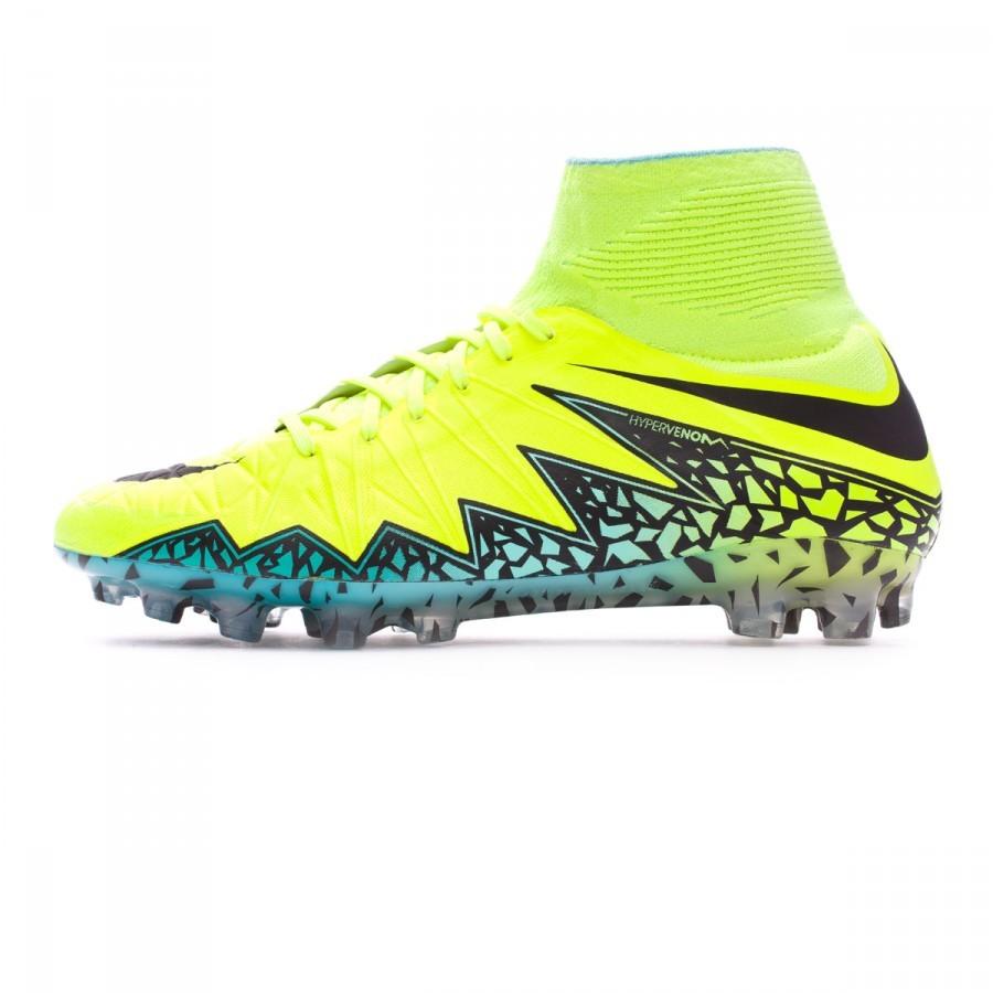 2e0a48784ef75 Football Boots Nike HyperVenom Phantom II ACC AG-R Volt-Black-Hyper  turquoise-Clear jade - Football store Fútbol Emotion