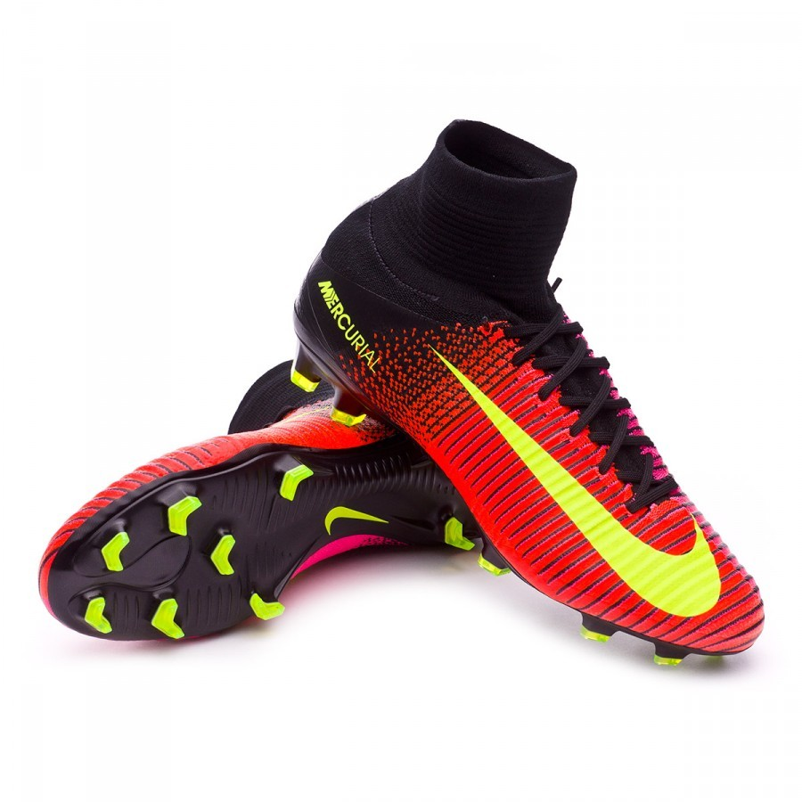 Boot Nike Mercurial Superfly V ACC FG Total crimson-Volt-Bla