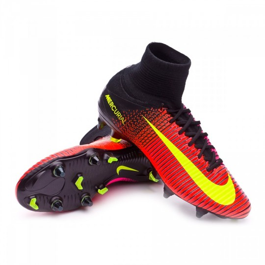 Chuteira  Nike Mercurial Superfly V ACC SG-Pro Total crimson-Volt-Black-Pink blast