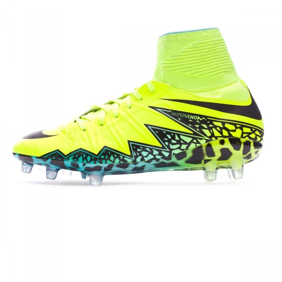 74a96f3962 Football Boots Nike Kids HyperVenom Phantom II ACC FG Volt-Black-Hyper  turquoise-Clear jade - Football store Fútbol Emotion