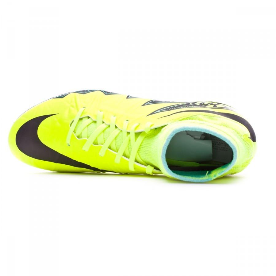 Bota de fútbol Nike HyperVenom Phantom II ACC FG Niño Volt-Black-Hyper  turquoise-Clear jade - Leaked soccer b69ce14cf07fe