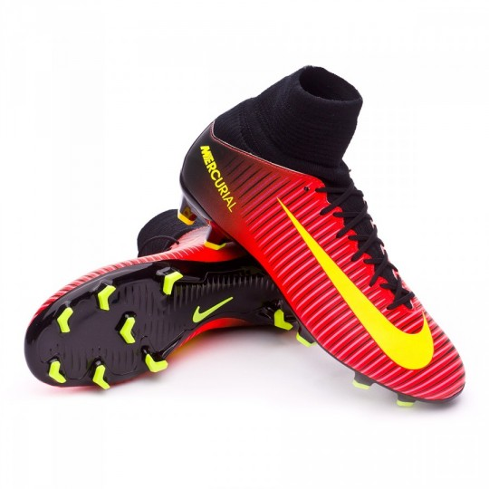 Chuteira  Nike jr Mercurial Superfly V ACC FG Total crimson-Volt-Black-Pink blast