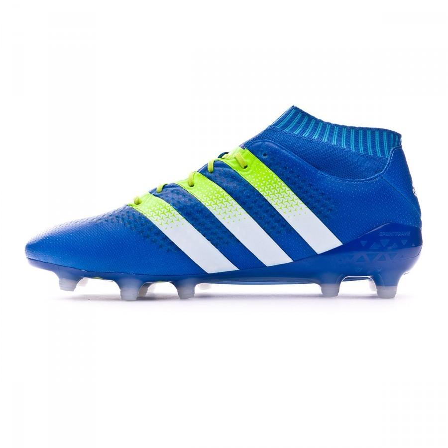 reputable site 8b8cd ec254 ... ireland bota de fútbol adidas ace 16.1 primeknit fg ag shock blue semi solar  slime white