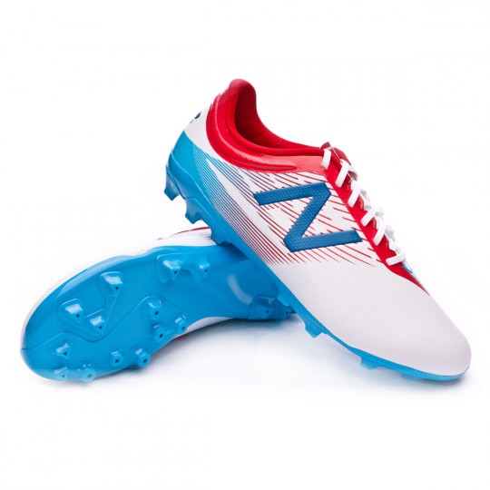 Chuteira  New Balance Jr Furon Dispatch AG White-Blue