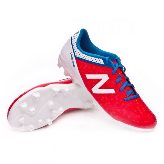 Bota  New Balance jr Visaro Control AG Red-White