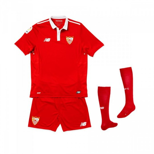 Conjunto  New Balance jr Sevilla FC Away 2016-2017 Red-White