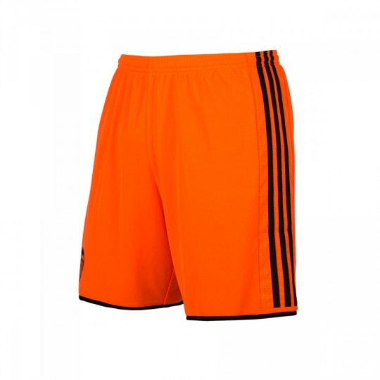 Pantalón corto  adidas Valencia CF Away 2016-2017 Solar orange-Black