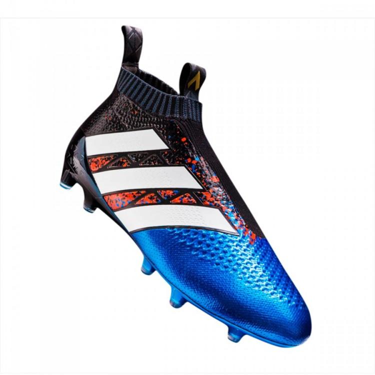 3ac9db269 Football Boots adidas Ace 16+ Purecontrol FG PARIS Black-Blue - Nike ...