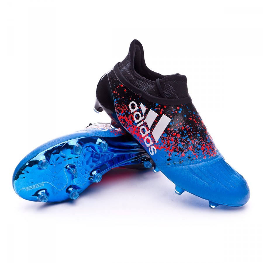 43071fa1dce ... boot adidas x 16+ purechaos fg paris black blue football store fútbol  emotion