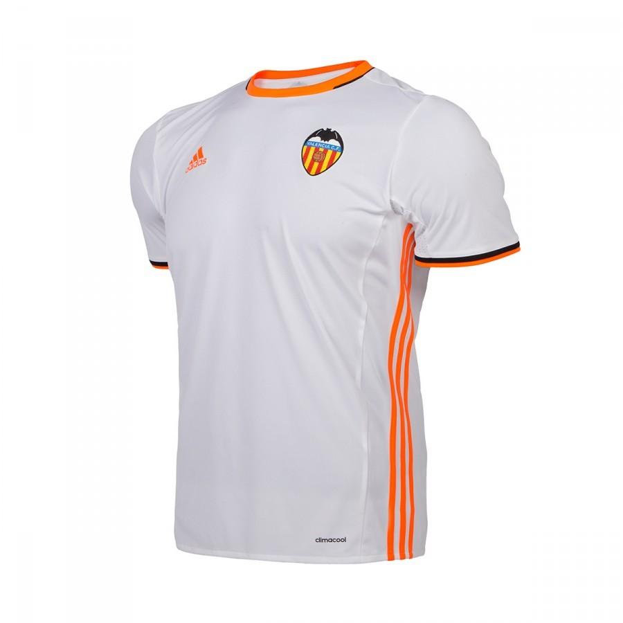 0e6ae3a675713 Playera adidas Valencia CF Primera Equipación 2016-2017 Niño White - Tienda  de fútbol Fútbol Emotion