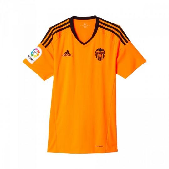 Camiseta  adidas Valencia CF Segunda Equipación 2016-2017 Niño Solar orange