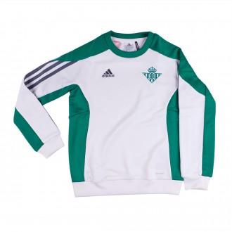 Sweatshirt  adidas Jr Real Betis Top 2016-2017 Branco-Berde