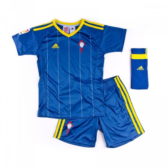 Conjunto  adidas jr RC Celta de Vigo Away 2016-2017 Clear blue-White