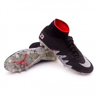 Chuteira  Nike HyperVenom Phantom II ACC Neymar Jr FG Black-Metallic silver-Light crimson-White