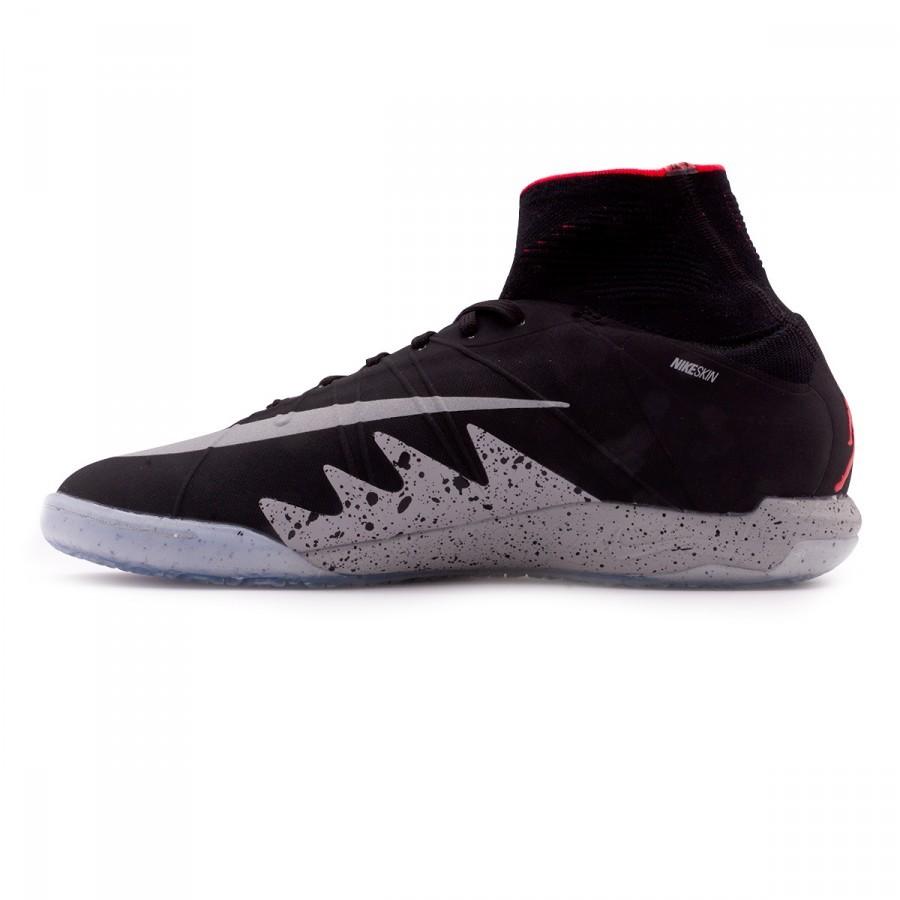 6eab9ee4520e Futsal Boot Nike HyperVenomX Proximo Neymar Jr IC Black-Metallic silver-Light  crimson-White - Football store Fútbol Emotion