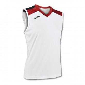 Camiseta  Joma S/M Volley Aloe Blanco-Rojo