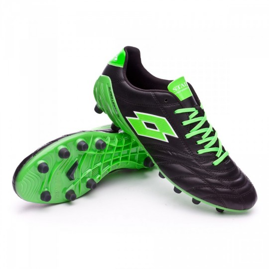 Chaussure  Lotto Stadio 100 FG Black-Mint fluor