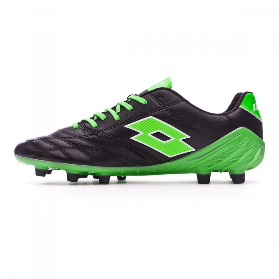 best website 06202 cdb6d Zapatos de fútbol Lotto Stadio 100 FG Black-Mint fluor - Soloporteros es  ahora Fútbol Emotion