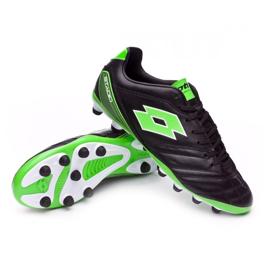Bota  Lotto Stadio 300 FG Black-Mint fluor