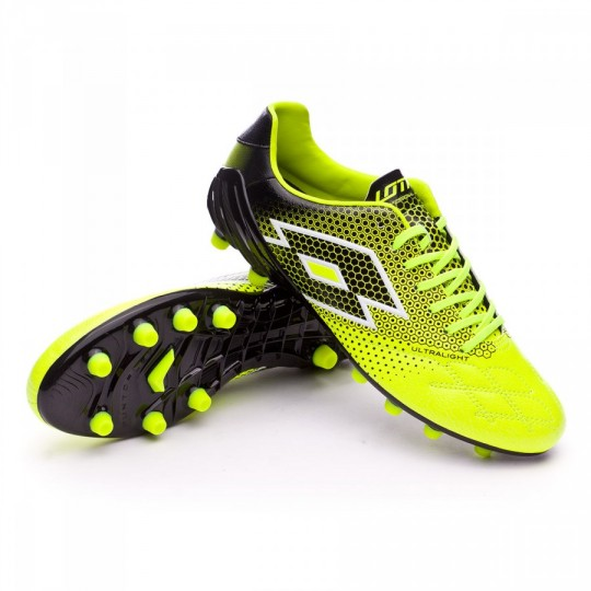 Chuteira  Lotto Spider 200 LGH FG Yellow safety-Black