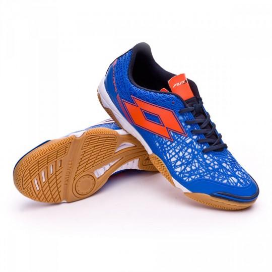 Chaussure de futsal  Lotto Tacto II 300 Blue shiver-Fanta fluor