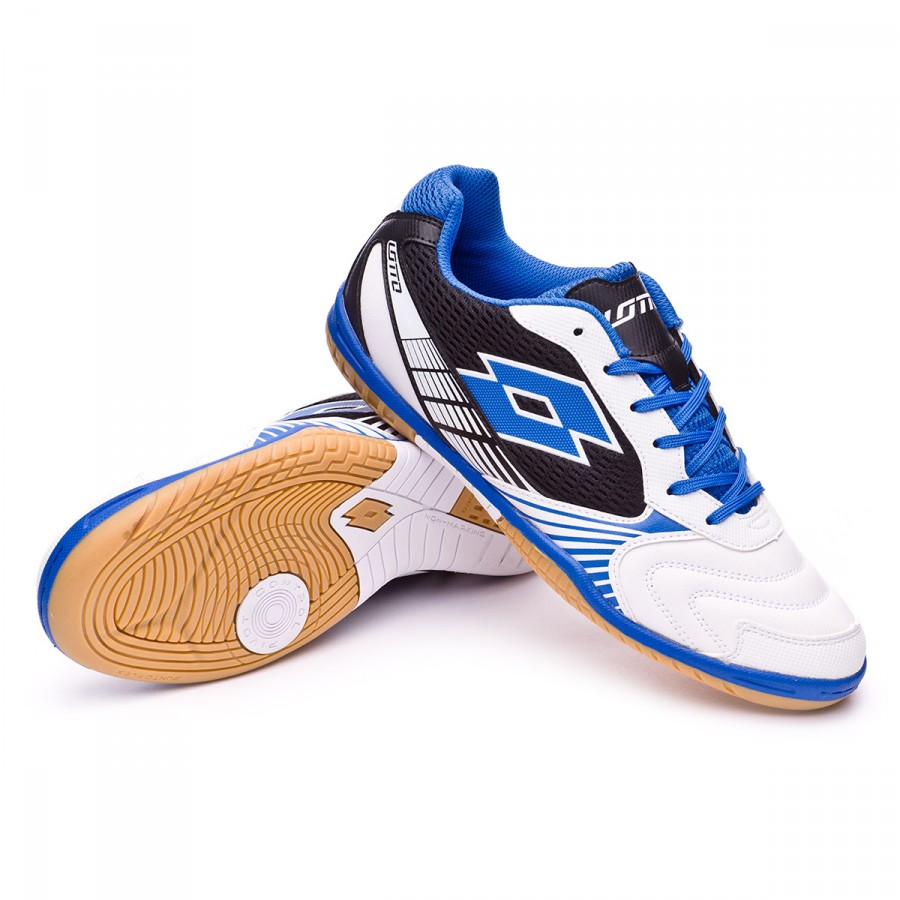 ead12e164 Futsal Boot Lotto Tacto II 500 White-Blue shiver - Football store ...