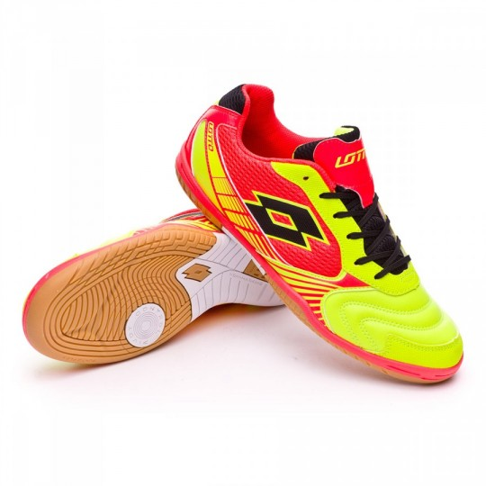 Sapatilha de Futsal  Lotto Tacto II 500 Yellow safety-Black