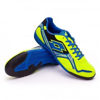 Zapatilla de fútbol sala  Lotto Torcida XV ID Yellow safety-Blue shiver