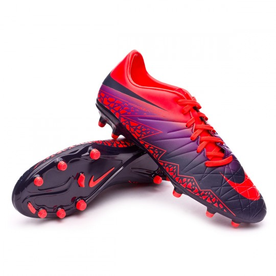 Bota  Nike HyperVenom Phelon II FG Total crimson-Obsidian-Vivid purple-Bright cr