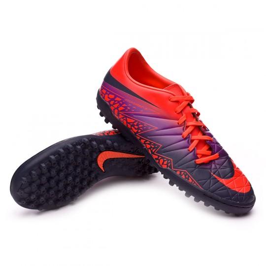 Zapatilla de fútbol sala  Nike HyperVenomX Phelon II Turf Total crimson-Obsidian-Vivid purple-Bright cr