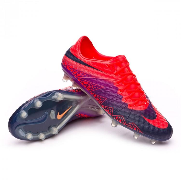 aca1a75384fe Football Boots Nike HyperVenom Phinish II FG Total crimson-Obsidian ...