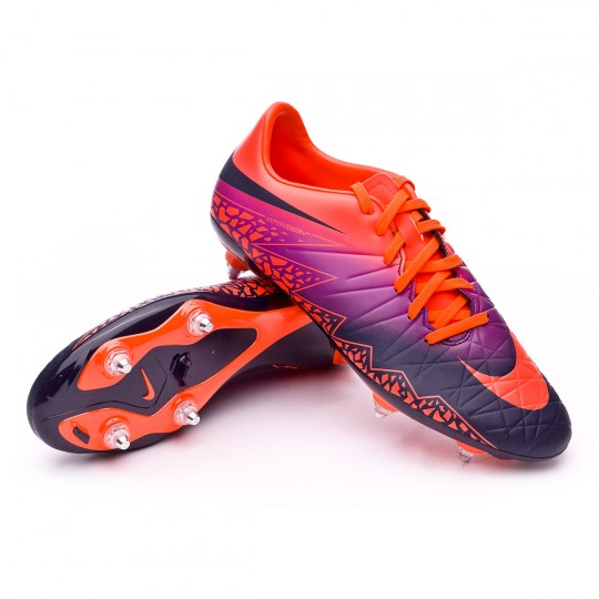 Boot  Nike HyperVenom Phelon II SG Total crimson-Obsidian-Vivid purple-Bright cr